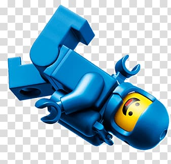 Blue and yellow minifig illustration, Lego Astronaut.