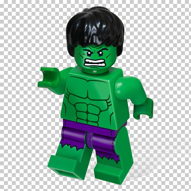 Lego Hulk, Lego Incredible Hulk toy PNG clipart.