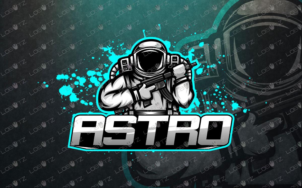 astronaut esports logo astronaut mascot logo premade logos.