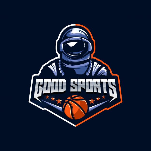 Astronaut logo vector Vector.