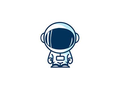 Astronaut logo by Alxndr. on Dribbble.