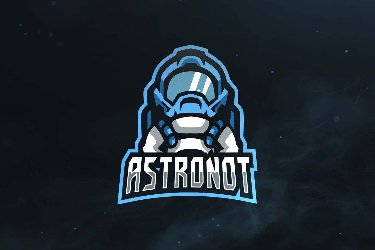Astronaut Sport and Esports Logo.