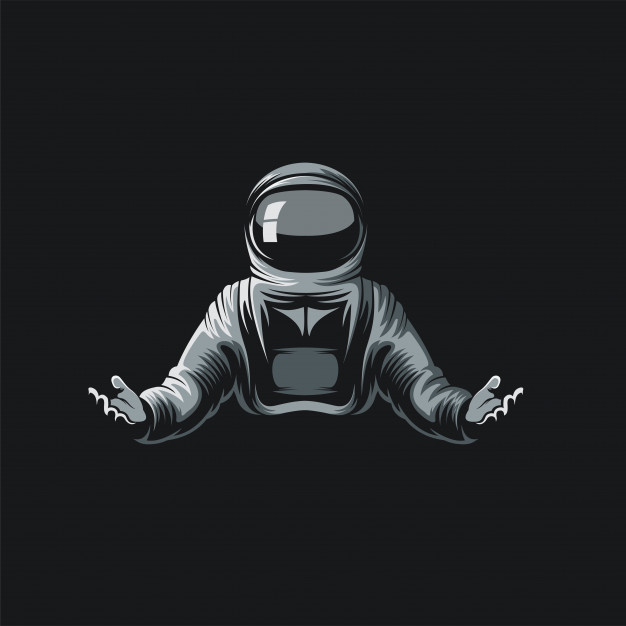 Astronaut logo ilustration Vector.