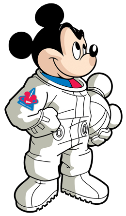 Space Mickey Clipart.