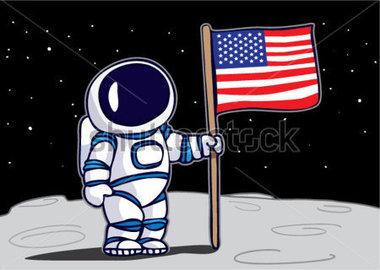 Astronaut On The Moon Clipart.