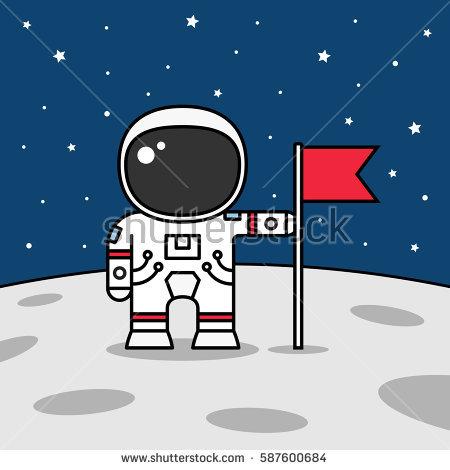 Astronaut on moon clipart 2 » Clipart Station.