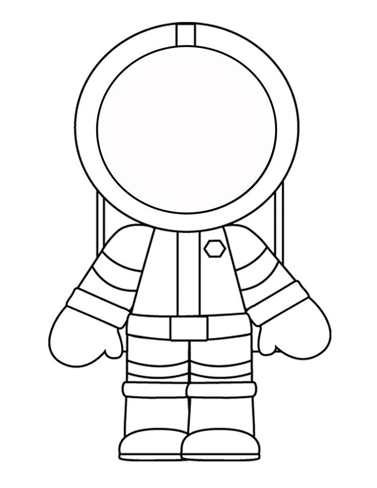 Printable template for the Astronaut.