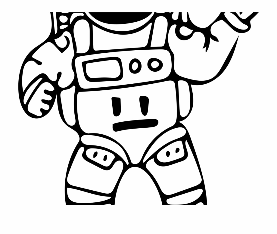 Astronaut Outline Png.