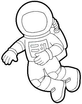 Astronaut Clipart Outline.