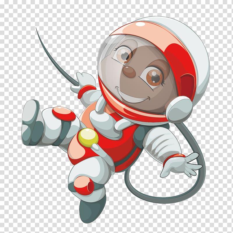 Astronaut Space suit Outer space , cartoon astronauts.