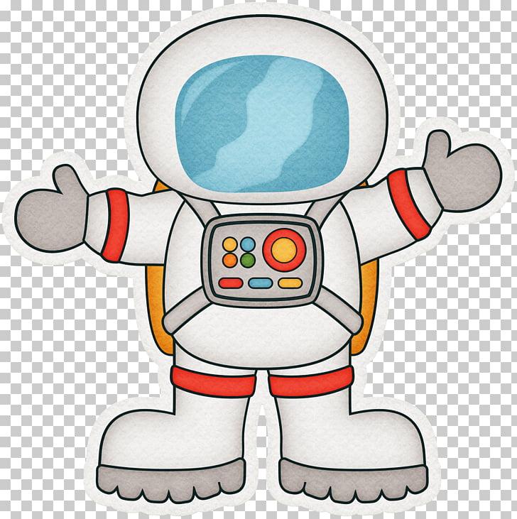 Astronaut Cartoon Outer space , Pretty cartoon robot.