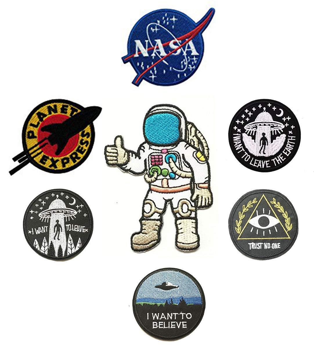 Amazon.com: 7 Pieces Space Theme Patch Set NASA/I Want to.
