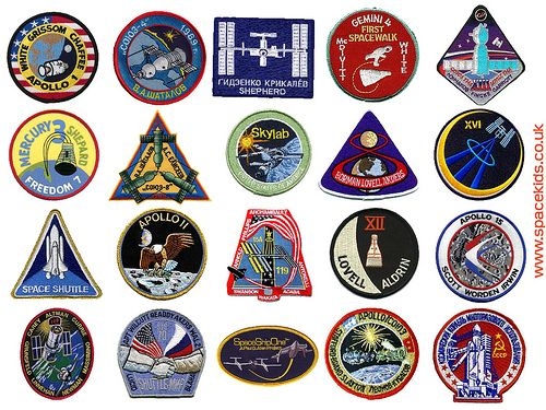 Space mission patches in 2019.