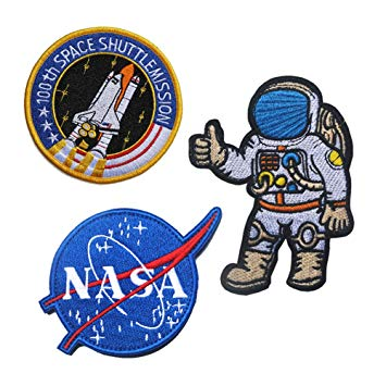 Joylish 3 Set Large NASA and Astronaut Iron on Patches, Decorative Sew on  Pacth Badges for DIY Clothing Jeans Backpack Jackets.