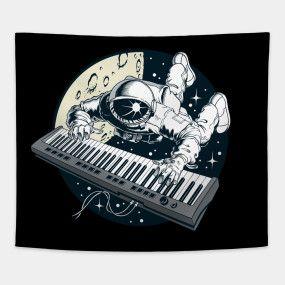 Astronaut Playing Piano.