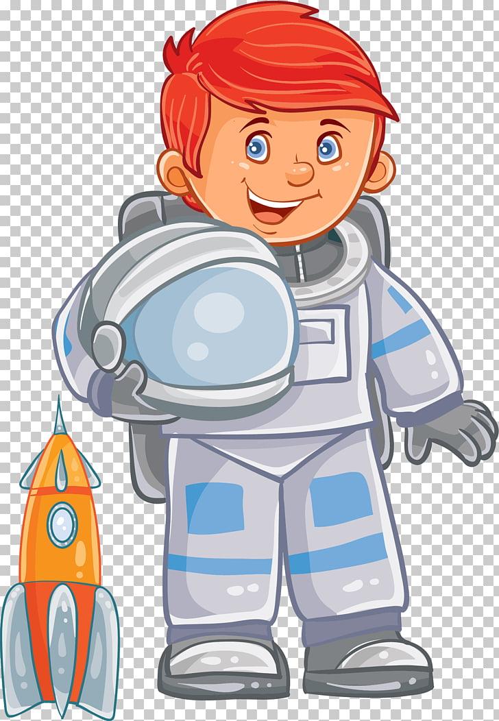 Astronaut Child Space suit Stock illustration, Cartoon hand.