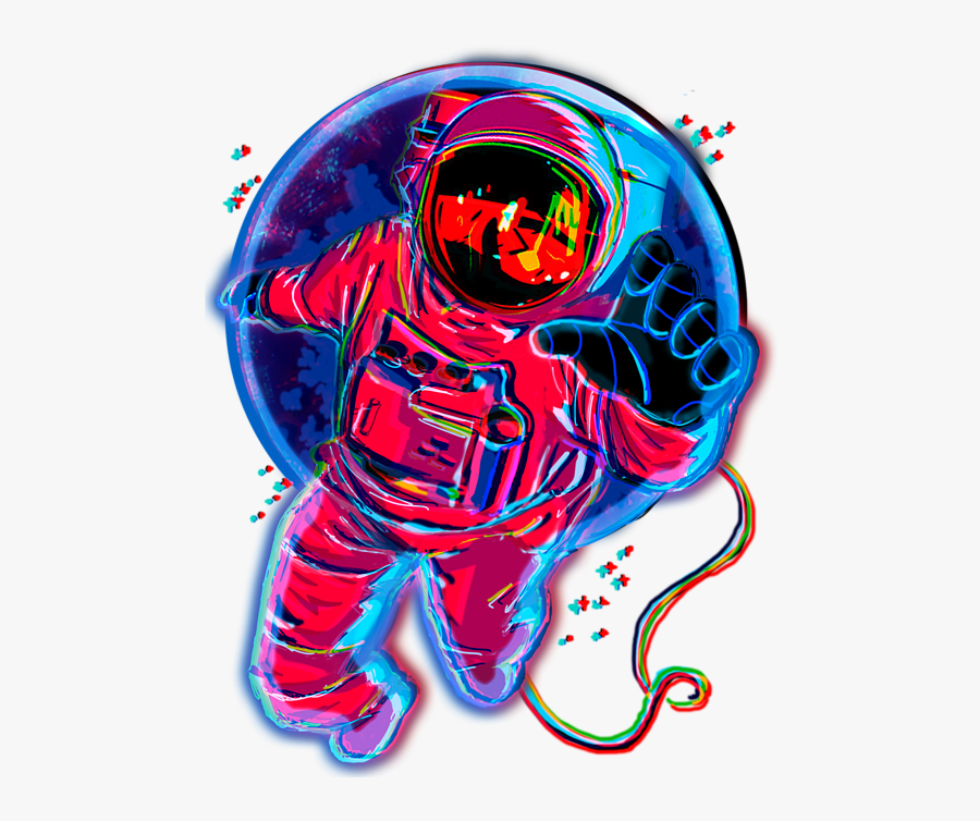 Trippy Astronaut Png.