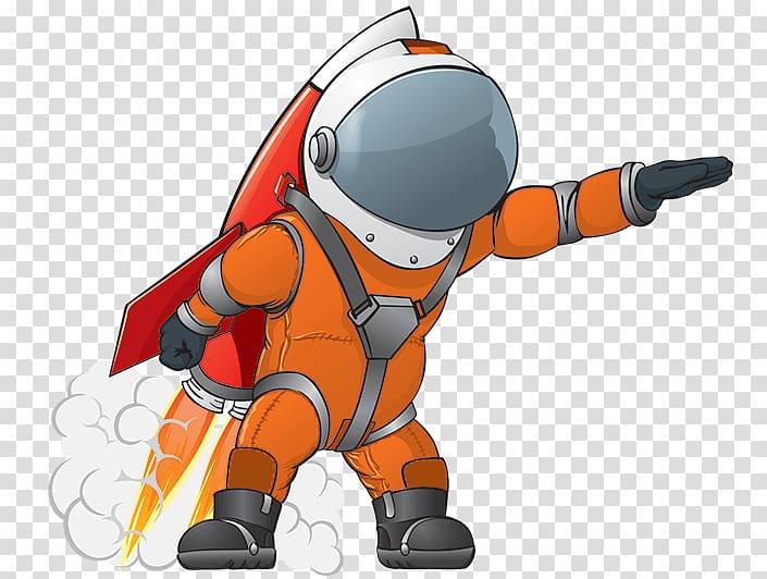 Astronaut Outer space Spacecraft Rocket, astronaut.