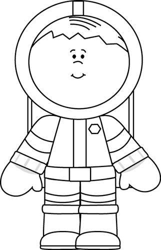 Space suit outline clipart.