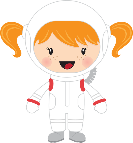 Little girl astronaut.