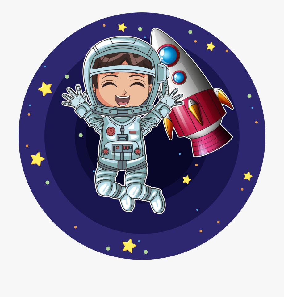 Girl Astronaut On Moon Cartoon , Transparent Cartoon, Free.