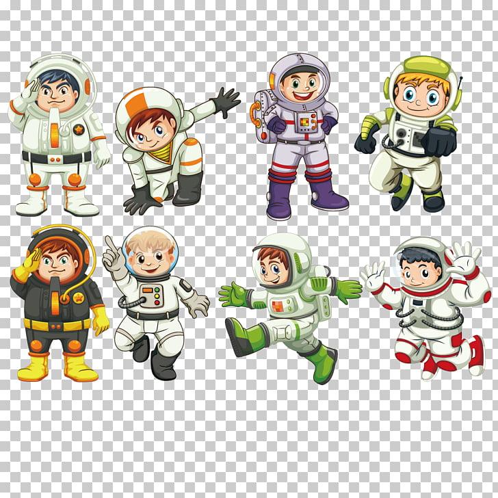 Astronaut Outer space Illustration, child astronaut, eight.