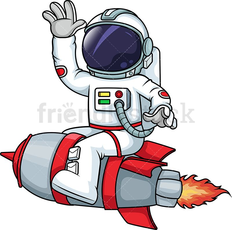 Astronaut On A Rocketship.