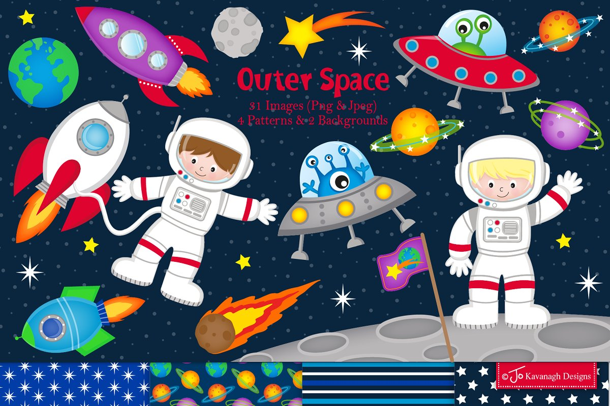 Space clipart, Astronauts.