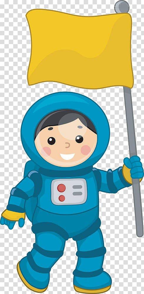 Astronaut Space suit , Cartoon child flag transparent.
