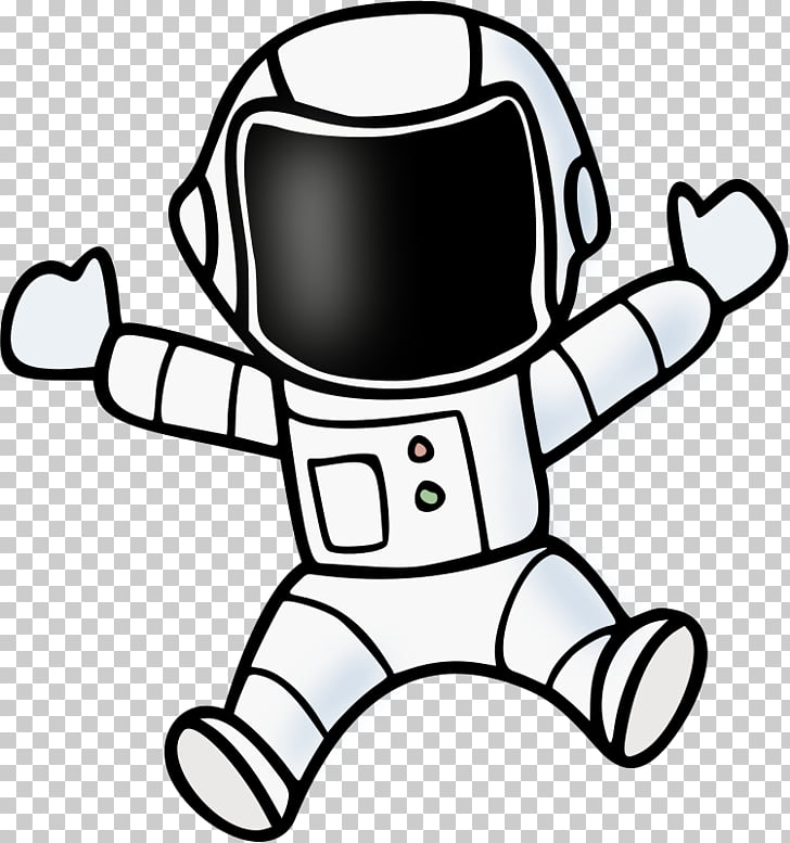Astronauta traje espacial dibujo, astronauta PNG Clipart.