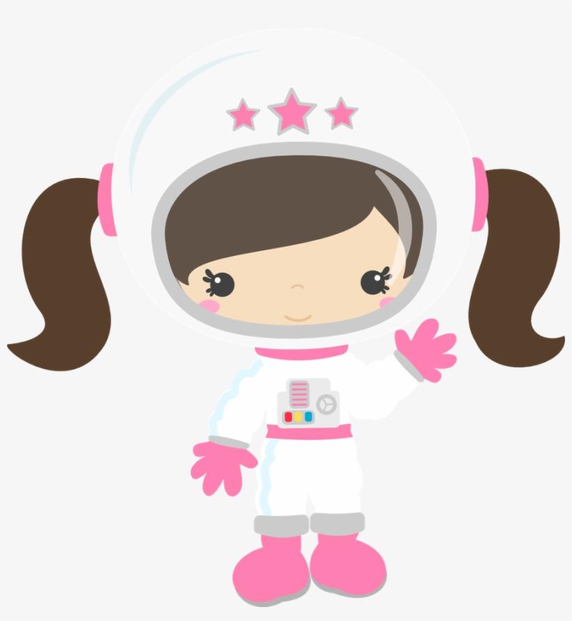 Clipart Girl Astronaut.