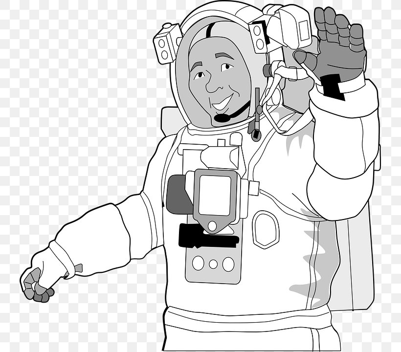 International Space Station Astronaut Space Suit Clip Art.