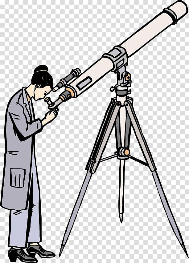 Astronomer Astronomy , Look telescope woman transparent.