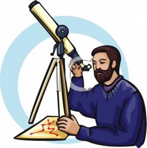 Astronomer Clipart.