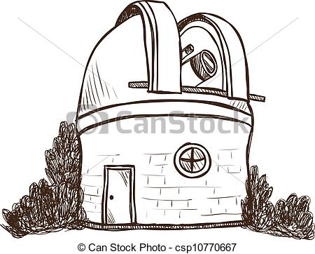 Astronomical observatory Vector Clipart Royalty Free. 111.