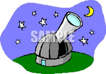 Telescope and Observatory Clip Art.