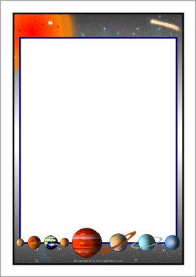 Solar System A4 page borders (SB11013).
