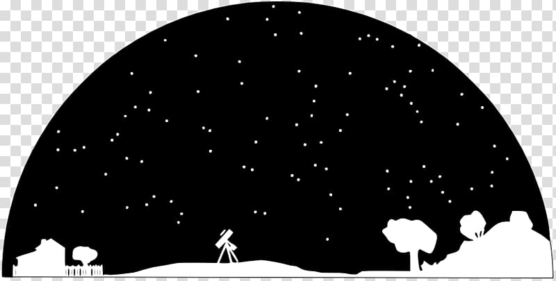 Trees and telescope illustration, Astronomy Astronomer.