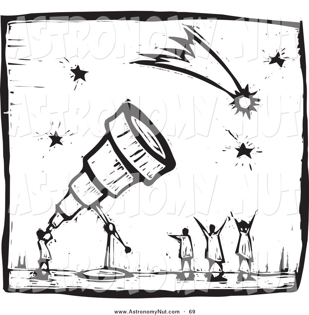 Astronomy clipart black and white, Astronomy black and white.