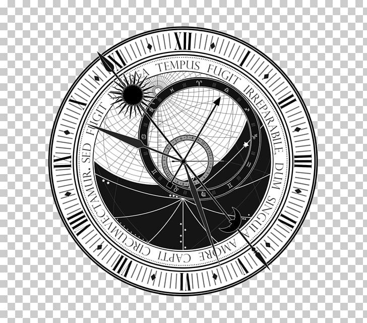 Prague astronomical clock Tattoo Astronomy, clock, round.