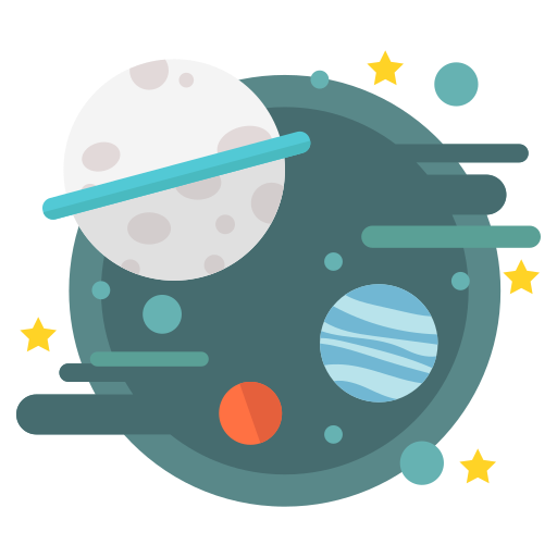 Astronomy, galaxy, planets, solar, space, star, universe Icon Free.
