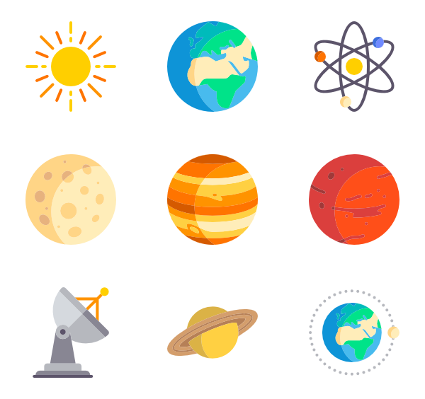 164 astronomy icon packs.