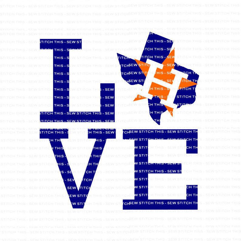 Houston Astros SVG, Astros Clipart, Houston Astros DXF, Baseball.