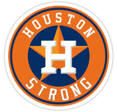 HOUSTON STRONG\' Sticker by eddiekruger.