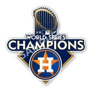 Details about Houston Astros World Series 2017 Champions Decal / Sticker  Die cut.