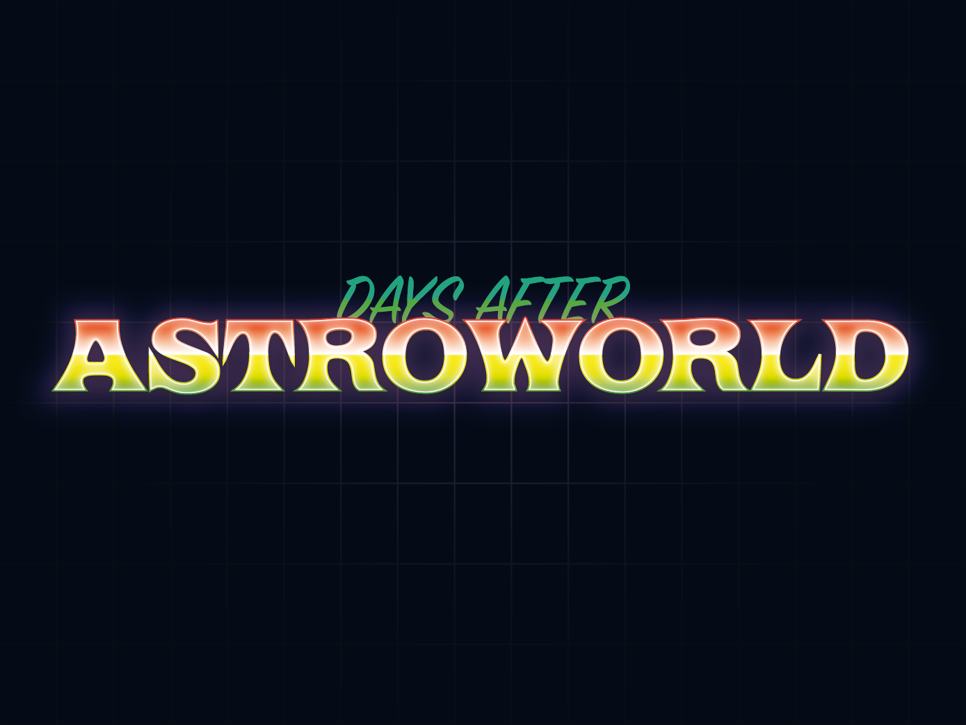 Days After Astroworld by Jack Colchester on Dribbble.