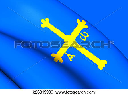 Stock Illustration of Asturias Flag, Spain. k26819909.