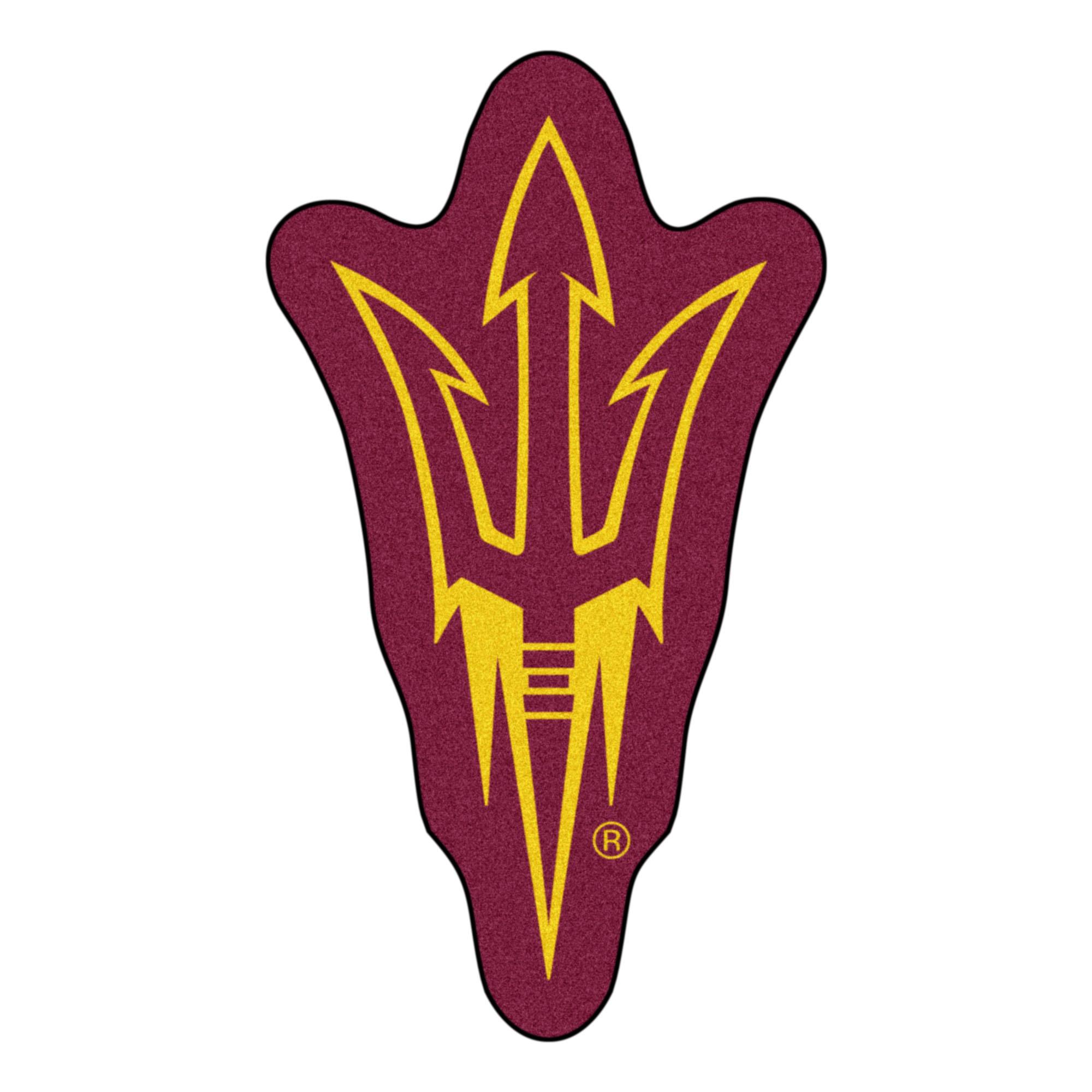Arizona State Pitchfork Logo Mascot Area Rug.