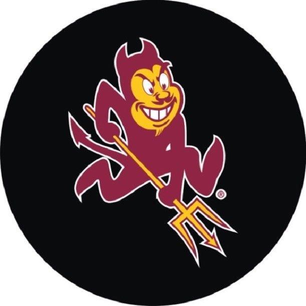 ARIZONA STATE UNIVERSITY ASU SUN DEVILS Sparky Logo Souvenir PUCK.