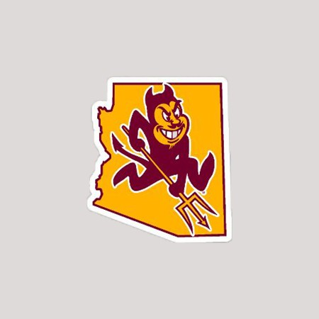 ASU Sparky State Mini Magnet.